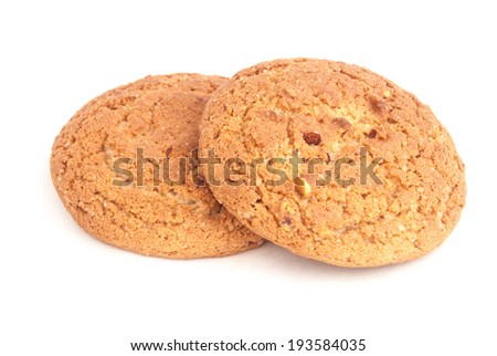 stack of oatmeal cookies, closeup