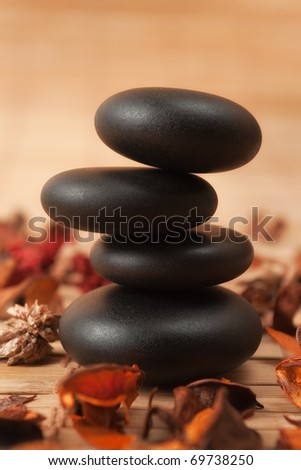 Stack of Oiled Spa stones