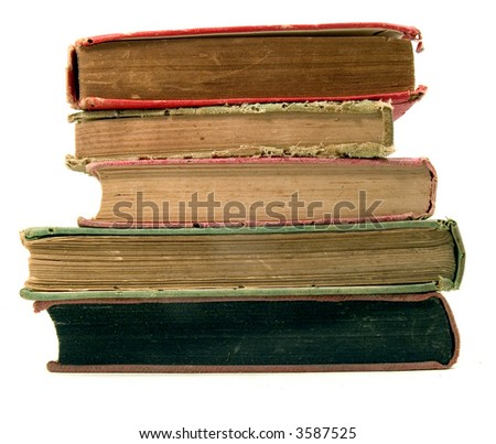 stack of old books - stock photo