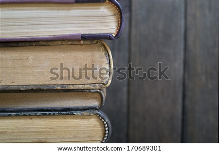 stack of old books, copy space for your text  - stock photo