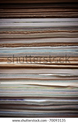 stack of old magazine (for background uses)