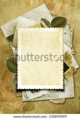 Stack of old papers as a background for your photo - stock photo