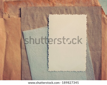Stack of Old Papers, toned under Vintage Style - stock photo