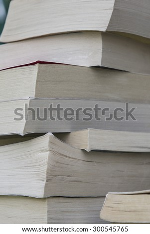 Stack of old Worn Books - stock photo