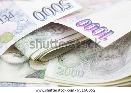 stack of paper money - stock photo