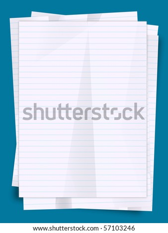 Stack of paper sheets illustration. - stock photo