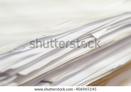 stack of papers and documents