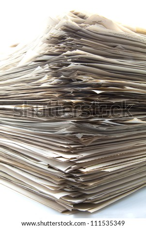 Stack of papers for office - stock photo