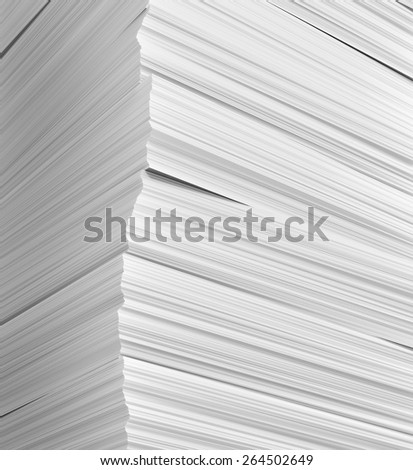 Stack of papers on whole background, 3d illustration - stock photo
