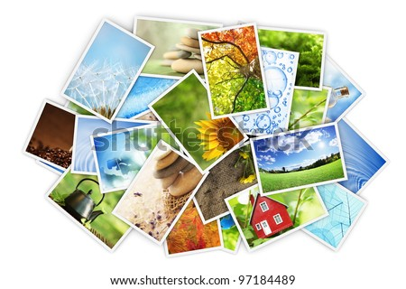 Stack of photos - stock photo
