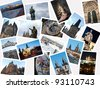 Stack of pictures with attractions and landmarks of Prague, Czech republic - stock photo