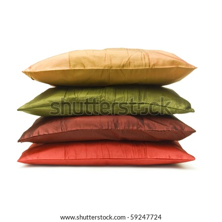 Stack of pillow - stock photo