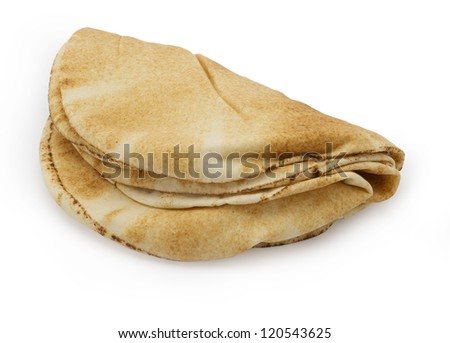 Stack of pita bread - stock photo