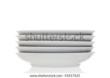 Stack of plain white dinner plates isolated on white background  sc 1 st  Shutterstock & Stack Plain White Dinner Plates Isolated Stock Photo (Safe to Use ...