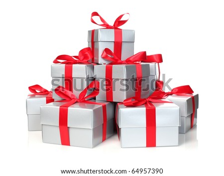 Stack of presents - stock photo