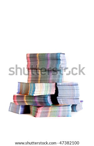stack of printed materials - stock photo