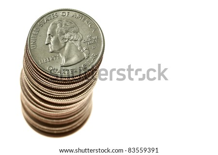Stack of quarters