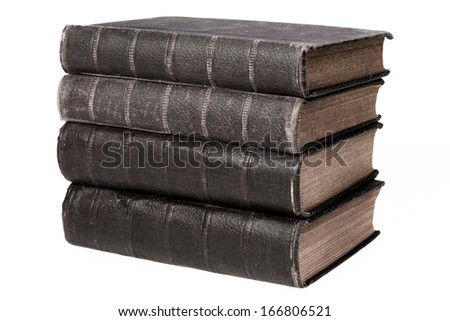 Stack of reference books - stock photo