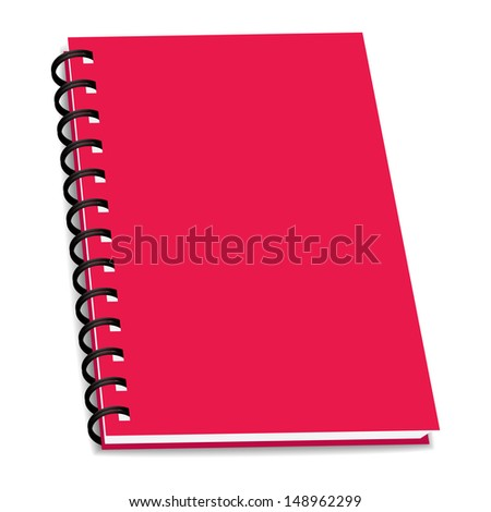 stack of ring binder book or notebook isolated - stock photo