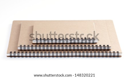stack of ring binder recycle book  isolated on white background - stock photo