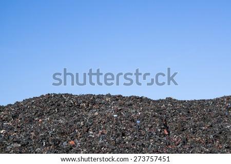 Stack of shredded tires  - stock photo