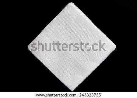Stack of sterile gauze pad. - stock photo