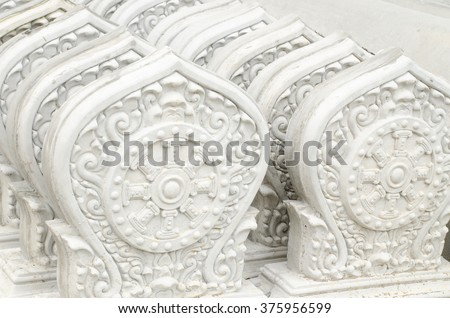 Stack of Thai style stucco - stock photo
