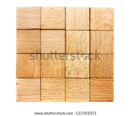 Stack of the wooden material lumber - stock photo