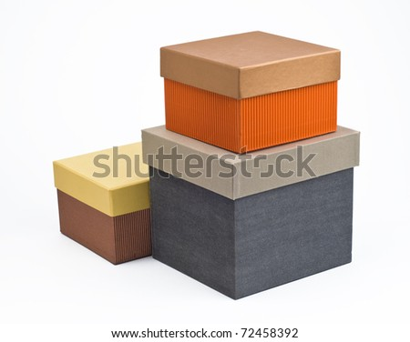 Stack of three gift boxes - stock photo