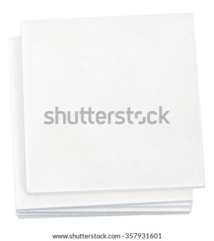 Stack of tiles - stock photo