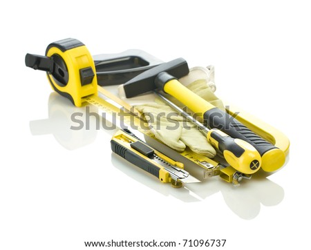 stack of tools for repairing
