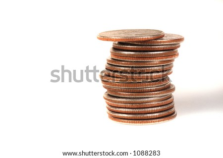 Stack of US Quarters