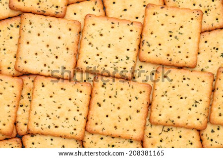 stack of vegetable salty crackers - stock photo