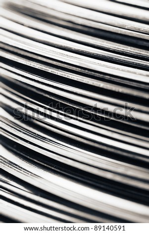 Stack of vintage records abstract