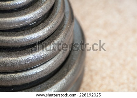 Stack of weight - stock photo
