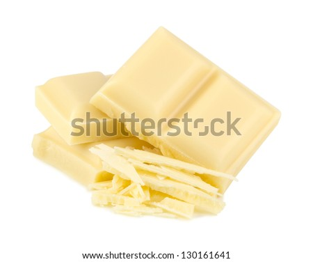 stack of white chocolate - stock photo