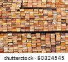 stack of wood logs for background - stock photo