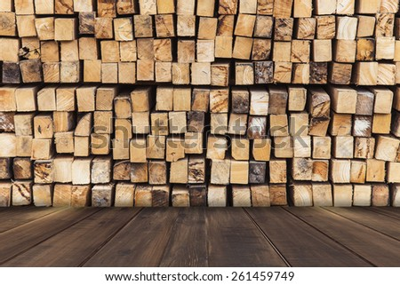 stack of wood logs for background and wooden texture - stock photo