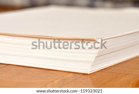Stack Paper - stock photo