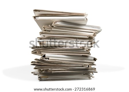 Stack, Paper, Document. - stock photo