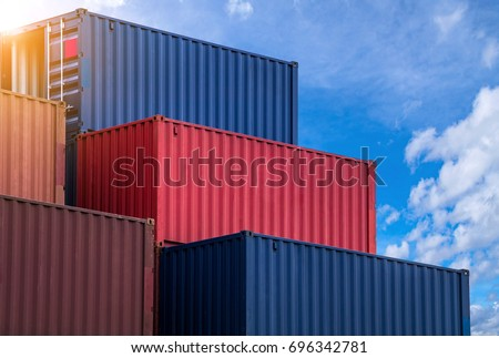 Stack Pattern Colourful Container Storage Area Stock Photo Royalty
