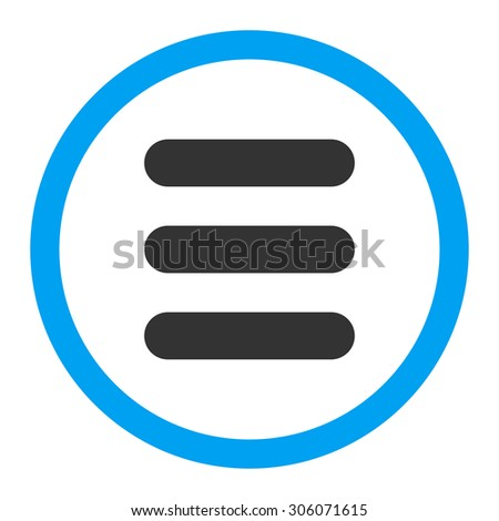 Stack raster icon. This rounded flat symbol is drawn with blue and gray colors on a white background.