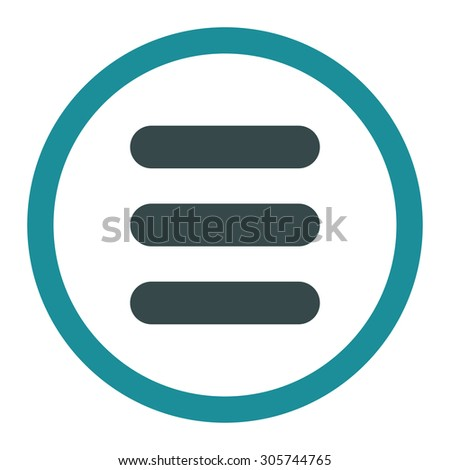 Stack raster icon. This rounded flat symbol is drawn with soft blue colors on a white background.