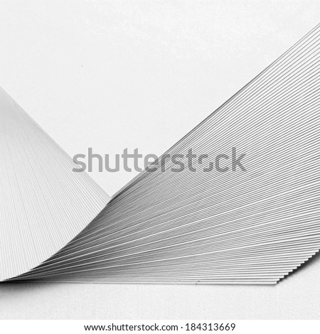 Stack white paper isolated on white background - stock photo