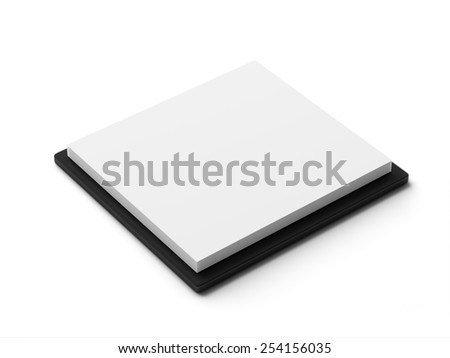 Stack white paper isolated on white background