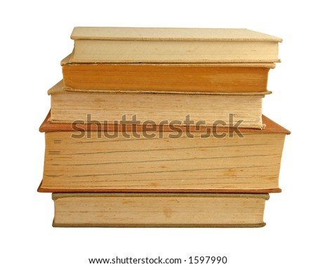 Stacked books - stock photo