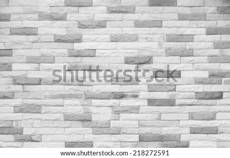 Stacked brick wall.Back ground.black and white - stock photo