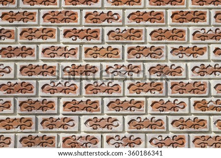 Stacked brick wall.Background of brick wall texture