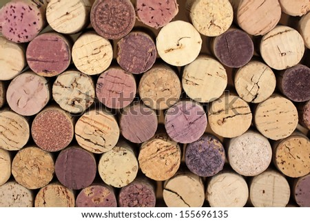 Stacked cork - stock photo