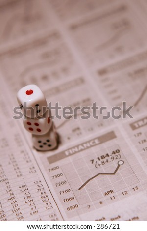 Stacked Dice & Stock Market